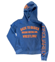 Authentic Dsquared Hoodie Back to Basics Mens Blue 2005 Summer M Dsquared2 - $187.01