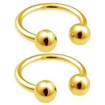 bodyjewellery 2pcs 18g Horseshoe Ring Circular Anodized Cartilage (Anodi... - $13.42