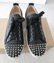 Nib 100% Auth Christian Louboutin Louis Junior Spikes Flats Sneakers - $1,395.00