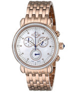 GV2 by Gevril Marsala 9800 ROSE GOLD Chronograph Diamond WATCH w/ Xtra S... - $384.65