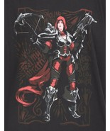 Blizzard Gaming Video Games Female Character Heroine T-Shirt Black Cotto... - $12.16