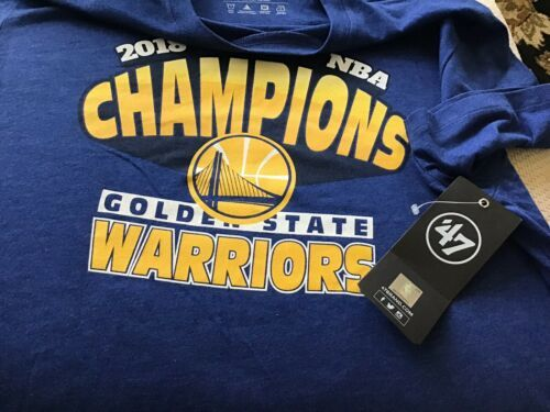 NBA Official 2018 Champion T-shirt '47 Brand Size L NEW Free Shipping Warriors image 5
