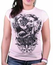 Famous Stars & Straps FSAS Luck is Chance But Trouble is Sure Pink T-Shirt NWT