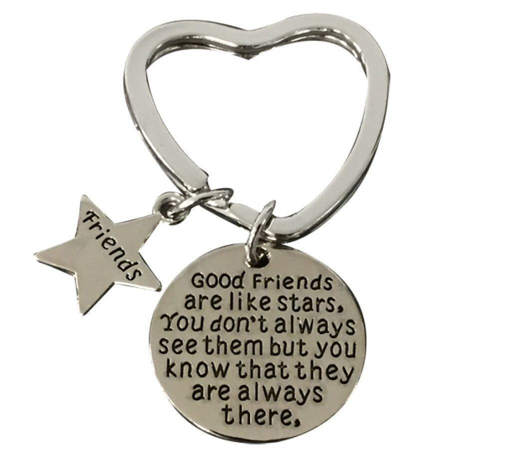Primary image for Best Friend Keychain, Friend Jewelry- Good Friends Heart Keychain