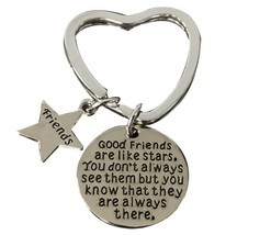 Best Friend Keychain, Friend Jewelry- Good Friends Heart Keychain - €9,15 EUR