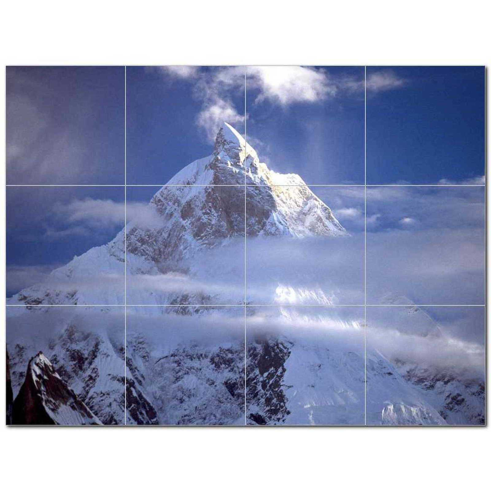 Primary image for Mountain Photo Ceramic Tile Mural Kitchen Backsplash Bathroom Shower BAZ405537