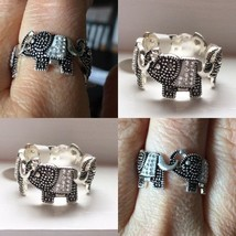 Sterling Silver Elephant Ring Size 7 - $19.00