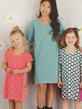 Simplicity Sewing Pattern 8147 Girls Knit Dresses Size 7-14 New - $14.77