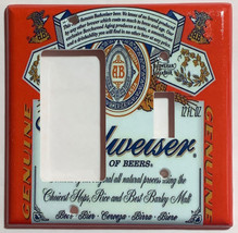 Budweiser Beer Logo Light Switch Power Duplex Outlet wall Cover Plate Home decor image 10