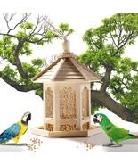 US, CN - Wooden Birds Feeder Outdoor Garden Yard Hanging House Shaped Pa... - $29.80