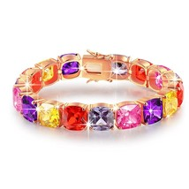 BRILLA Tennis Bracelet Fashion Jewelry with Multi Colored Crystal for Wo... - $102.82