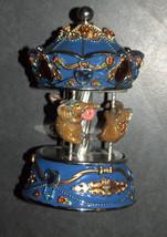 Vintage Decorated Enamel Jeweled Elephant Carousel Music Box  image 4