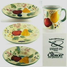 "Gibson Designs ""FRUIT GROVE"" Hand-Painted Dinnerware Collection Apple Pe... - $9.89+"