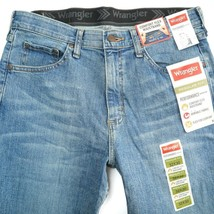 Wrangler Comfort Flex Waistband Regular Fit Medium Wash Zip Jeans Mens 3... - $29.56