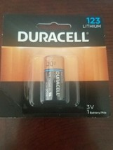 1 Duracell 123 Ultra Photo Batteries Lithium CR123 3v exp.2027 *NEW Sealed* - $18.50