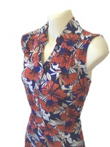 Croft & Barrow Misses Red Floral Sleeveless Knit Tank Top S XL - $14.99