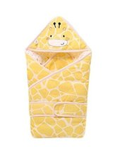 PANDA SUPERSTORE Giraffe Pattern Soft and Comfortable Thick Quilted Yellow Baby