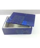 Royal Blue Lapis Lazuli 10.5x7.5x3.8cm - 391gm jewlery box Natural 01pc ... - $68.31