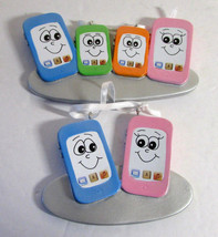 Family of Cell Phone Christmas Ornaments to Personalize for Gifts 2 & 4 ... - $20.90