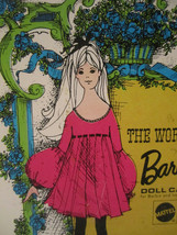 The World Of Barbie Doll Case 1002 Blue Vintage 1968 Doll Carrying Case image 2