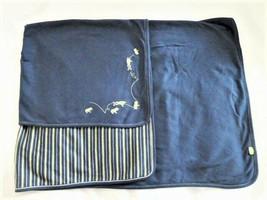 Gymboree Navy Blue Green stripe Leaping Leap Frog Baby Boy Cotton Blanke... - $59.39