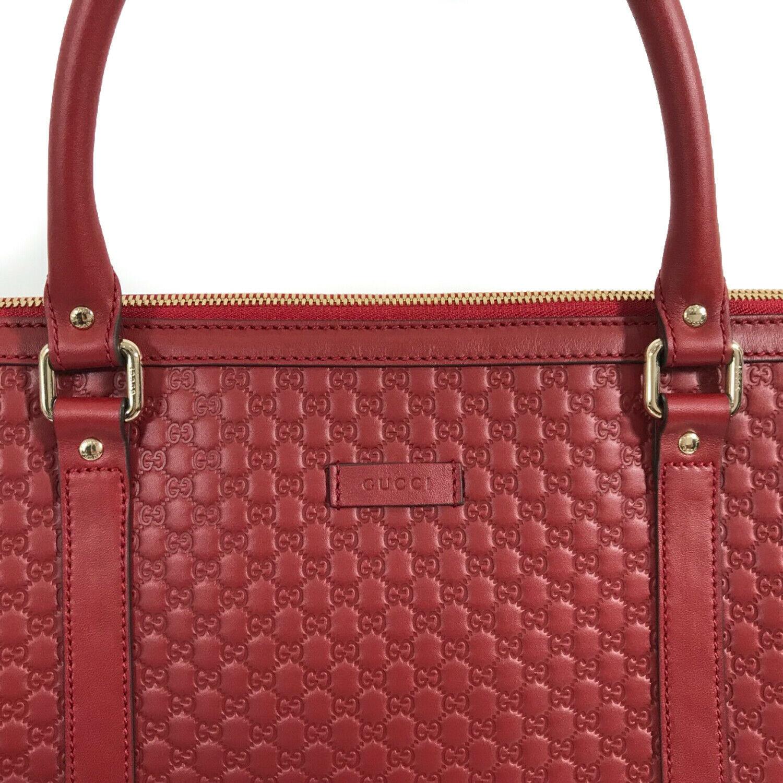 NEW GUCCI Microguccissima Leather Zip Top Crossbody Handbag image 2