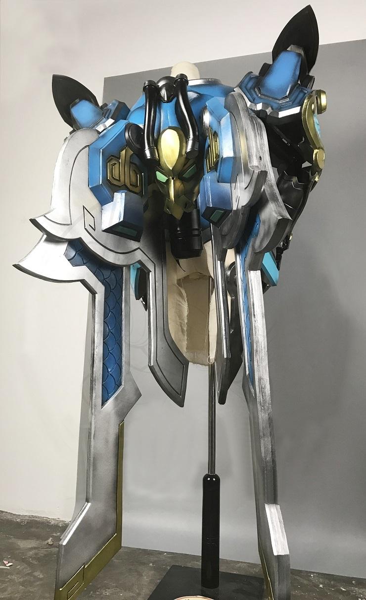 Overwatch Pharah Skin Qinglong Cosplay Armor