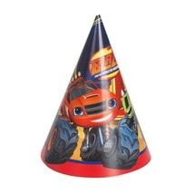 Blaze and the Monster Machines Party Cone Hats 8 Ct Trucks - $4.51 CAD
