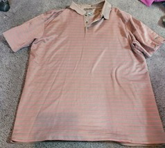 Nike Golf Tiger Woods Collection Dri-Fit Polo Shirt Brown Stripe Mens XL... - $25.00