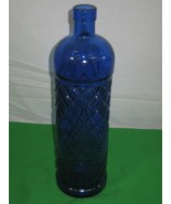 Vintage Cobalt Blue Bottle Diamond Pattern - $15.85