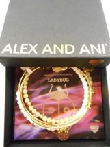 Alex And Ani Ladybug Set Of 3 Bracelets Shiny Gold Nwtbc Spring 2017 - $62.36