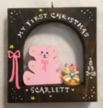 Teddy Bear Baby's First Christmas Boy or Girl Personalized Christmas Orn... - $19.00