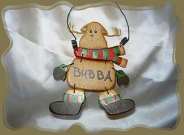 Wood Dog Christmas Wired Ornaments - Panted With Silly Names, Black wire... - $5.00