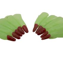 Verde fosforescente STREGA DITO ROSSO NERO UNGHIE COSTUME HALLOWEEN ACCE... - £2.99 GBP+