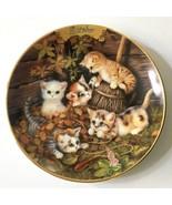 OCTOBER Timeless Tails Purr-petual Calendar Plate Perpetual Cat Kitten 5... - $19.79