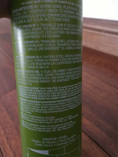 Tigi Bed Head Urban Antidotes RE-ENERGIZE Shampoo  25.36 fl oz