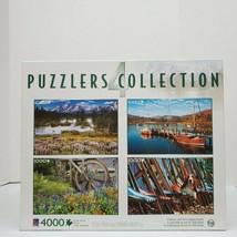 Sure-Lox Photo Gallery 4 Deluxe 1000 Piece Jigsaw Puzzles Grand Teton Ba... - $19.99