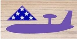 Air Force Awacs Boeing E-3 Sentry Side Award Wood Shadow Box Medal Display Case - $360.99