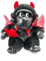 "Valentines Day Plush Pals Black Gorilla Devil W/ Pitch Fork Cape 8""  - $14.36"