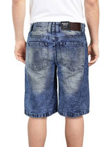 Brooklyn Xpress Men's Relaxed Fit Ripped Distressed Destroyed Jean Denim Shorts image 5