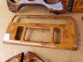 00-03 Jaguar XK8 XKR 8pc Wood Grain Dash Console Switch Trim Set image 4