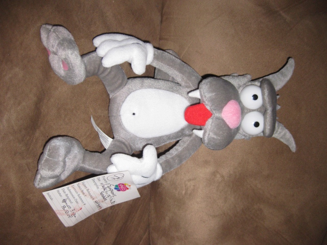 "Primary image for SIMPSONS SCRATCHY PRE-PRODUCTION SAMPLE New Plush 13"" RARE HTF PROMO TAG 2006"
