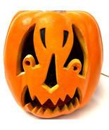 "Vtg Halloween Foam Scary Creepy Pumpkin JOL Lighted Blow Mold 10 "" Paper... - $37.62"