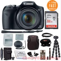 Camaras Fotograficas Profesionales Canon 1080p HD 50x Zoom, Camera Bag 3... - $881.99