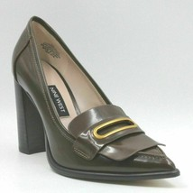 Nine West Zoro Women Leather Penny Loafer Heels Size US 5M Dark Natural - $50.40