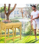Raised Wooden Planter Vegetable Flower Bed with Liner - $126.81