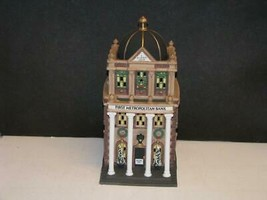"DEPT 56 -CHRISTMAS IN THE CITY-""FIRST METROPOLITAN BANK"" MINT IN BOX - $36.62"