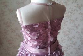 Ball Gown Knee-length Flower Girl Dress -Satin/Tulle Sleeveless Scoop Neck 4-16  image 7