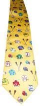 Lacrosse LAX Jersey Helmets Sticks 100% Silk Alynn Mens Neck Tie Yellow ... - $9.89