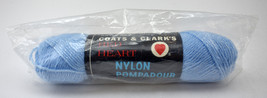 Vintage Red Heart Nylon Pompadour Crimp-Set Nylon/Rayon Yarn - 1 Skein Blue #802 - $9.45